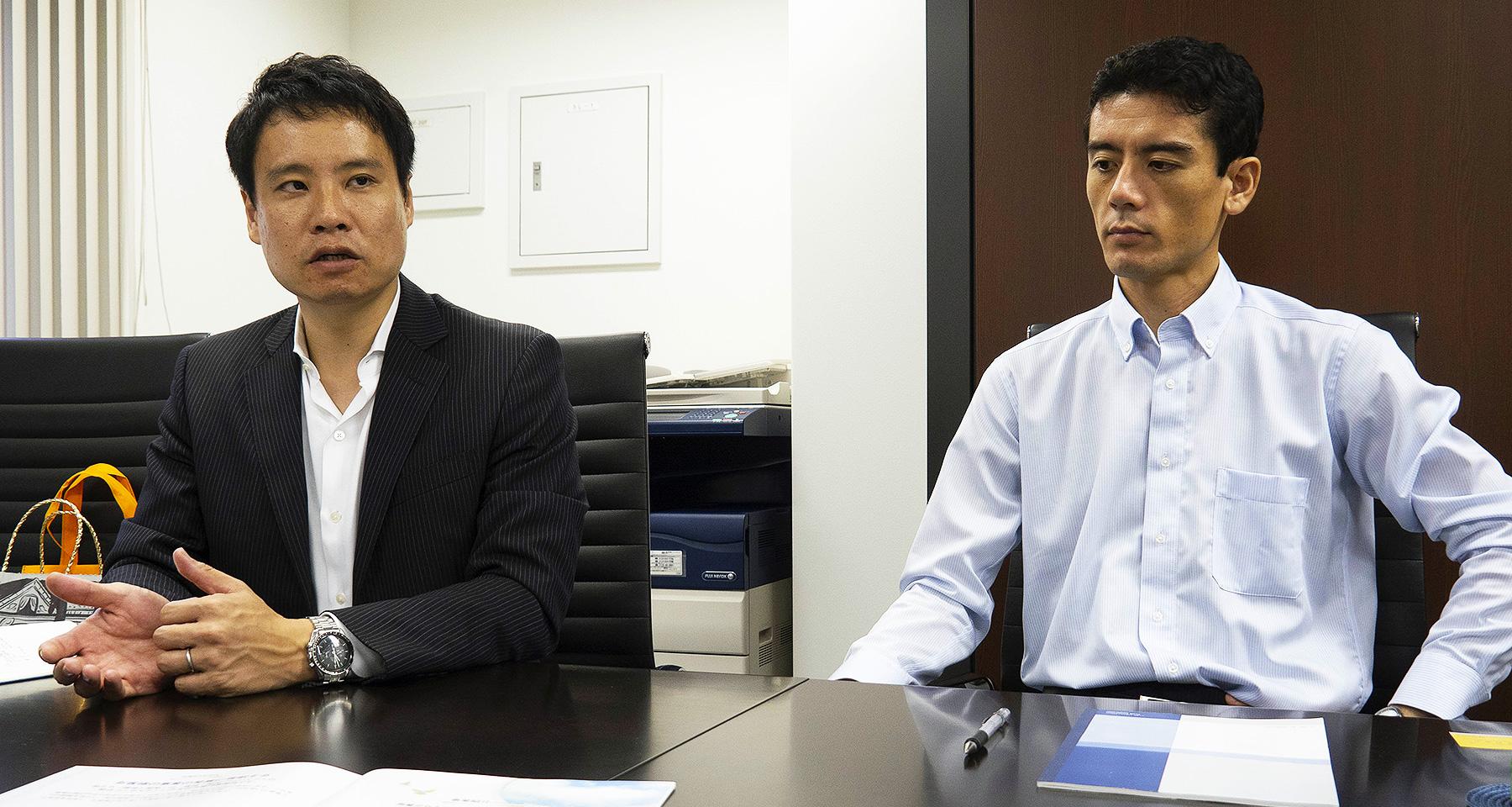 代表取締役 田邉陽介 様  東京支店 業務部主任兼災害廃棄物対策部主任 岡真如様