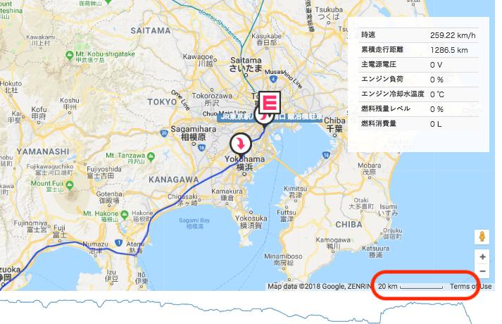 地図の縮尺表示対応